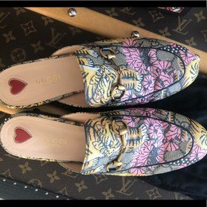 Gucci Woman's Bengal Princetown Mules size 38